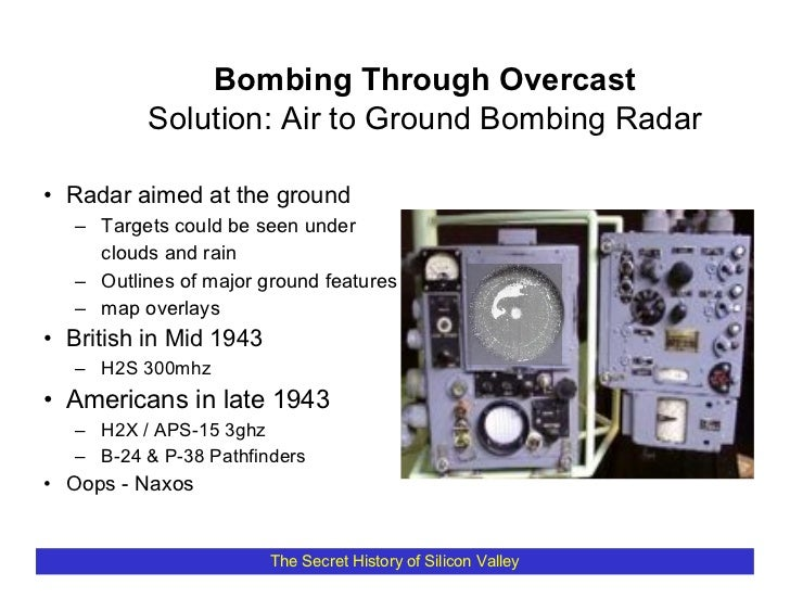 Bombing Through Overcast           Solution: Air to Ground Bombing Radar  • Radar aimed at the ground    – Targets could b...