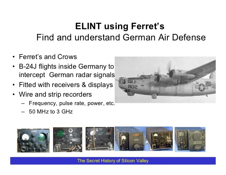 ELINT using Ferret's         Find and understand German Air Defense  • Ferret's and Crows • B-24J flights inside Germany t...