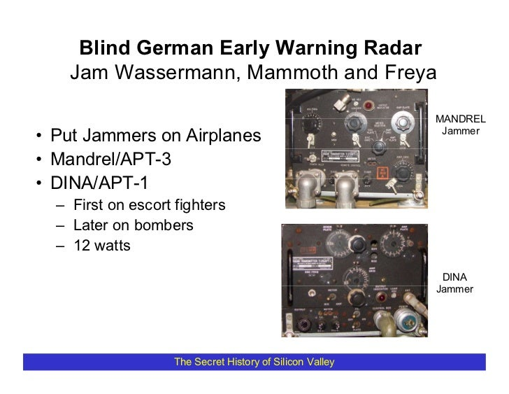 Blind German Early Warning Radar     Jam Wassermann, Mammoth and Freya                                                    ...