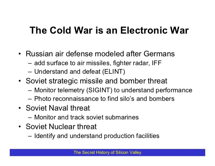 The Cold War is an Electronic War  • Russian air defense modeled after Germans   – add surface to air missiles, fighter ra...