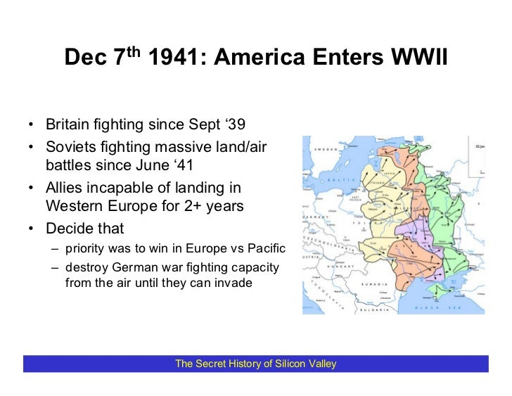 Dec 7th 1941: America Enters WWII  • Britain fighting since Sept '39 • Soviets fighting massive land/air   battles since J...
