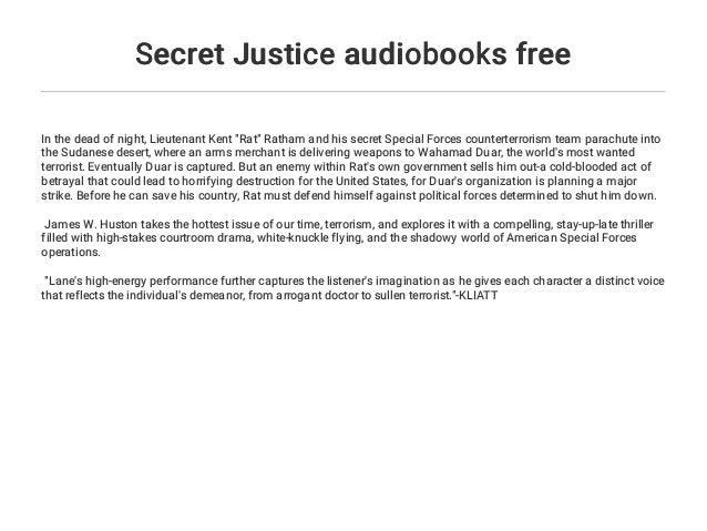 secret justice huston james w