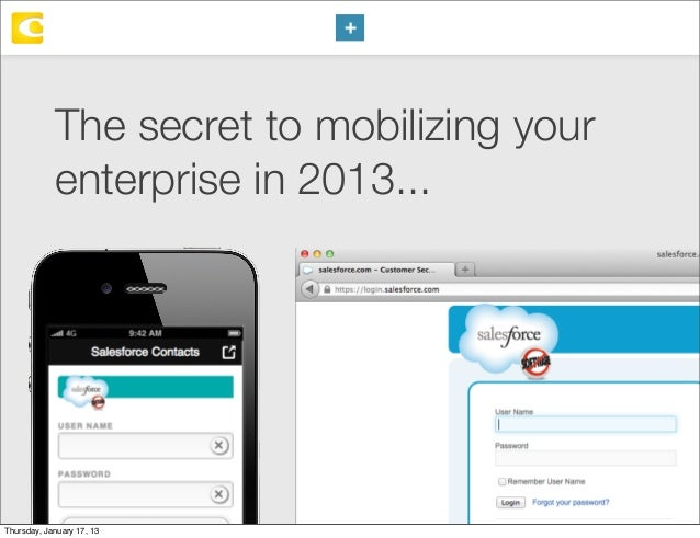 The secret to mobilizing your enterprise in 2013...  Thursday, January 17, 13
