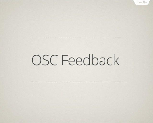 OSC Feedback
