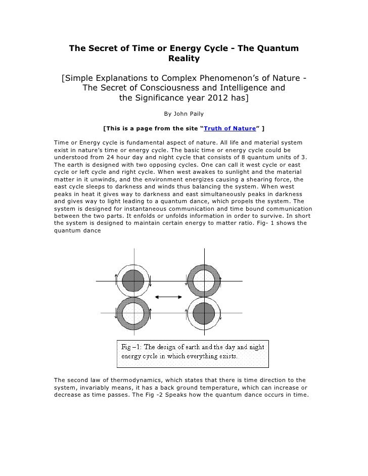 The Secret of Time or Energy Cycle - The Quantum                          Reality    [Simple Explanations to Complex Pheno...