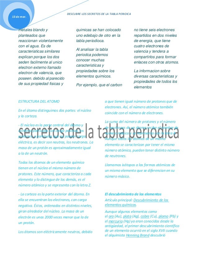 Secretos de la tabla periodica 10d tabla periodica comparten varias caracteristicas los dos son 2 urtaz Gallery