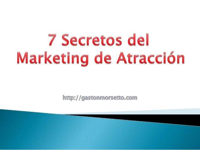 • Network Marketer, Autor, Conferencista y Consultor en Marketing Multinivel y Liderazgo. http://gastonmorsetto.com ¿Cómo ...
