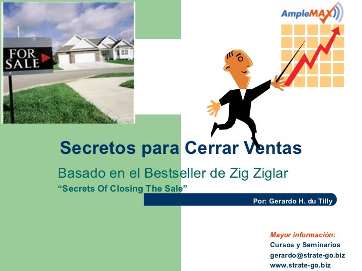 "Secretos para Cerrar VentasBasado en el Bestseller de Zig Ziglar""Secrets Of Closing The Sale""                             ..."
