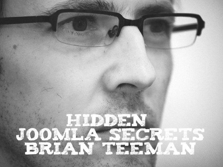 Hidden Joomla Secrets Slide 1