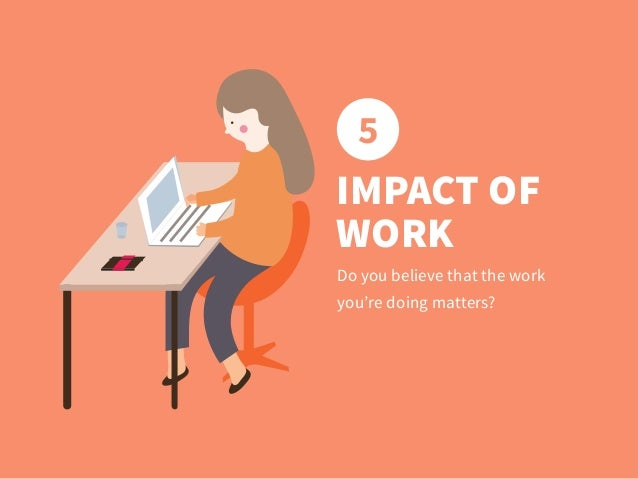 5 Do you believe that the work you're doing matters? IMPACT OF WORK
