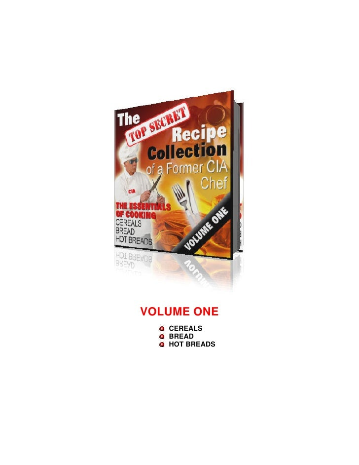 VOLUME ONE   CEREALS   BREAD   HOT BREADS