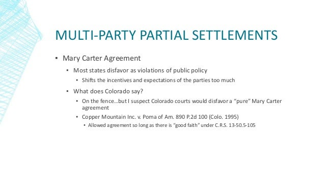 Secrets And Scandals Trends In Partial And Multi Party Settlements