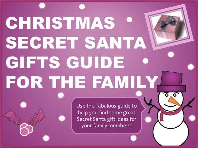 Christmas Secret Santa Gift Guide For The Family