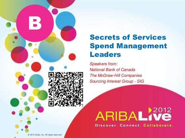 B                                          Secrets of Services                                          Spend Management  ...