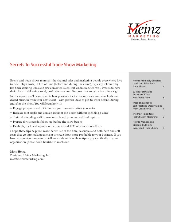 Secrets To Successful Trade Show MarketingEvents and trade shows represent the channel sales and marketing people everywhe...
