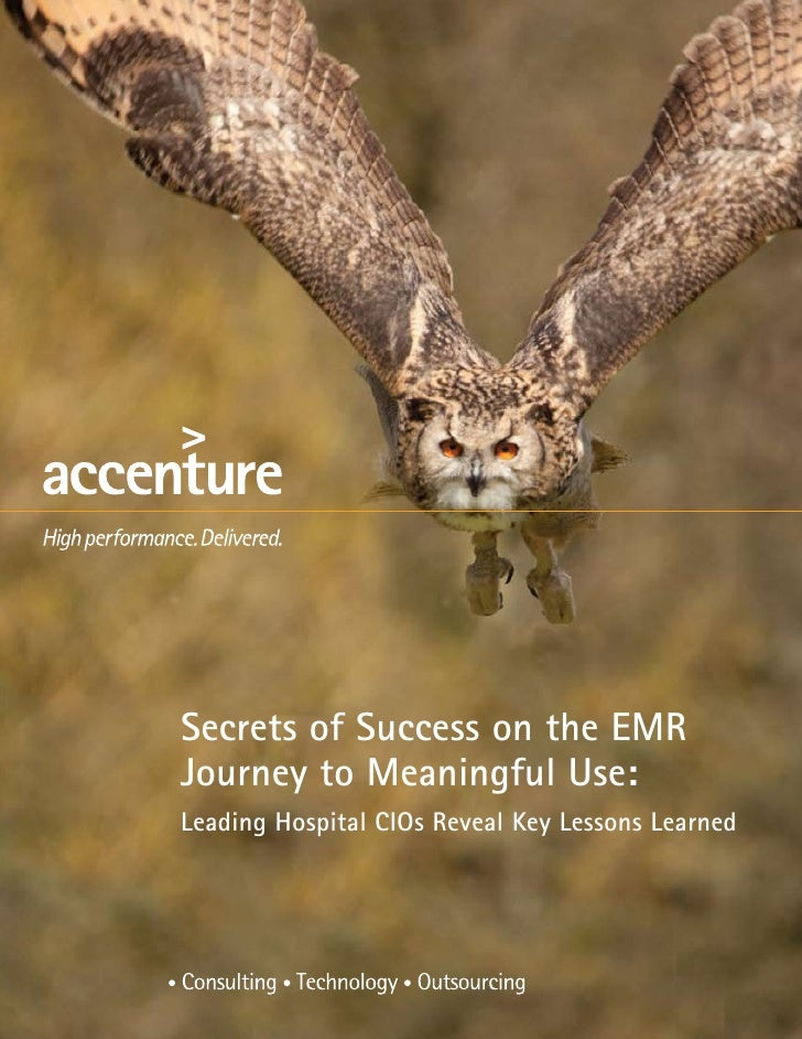 Secrets of Success on the EMRJourney to Meaningful Use:Leading Hospital CIOs Reveal Key Lessons Learned