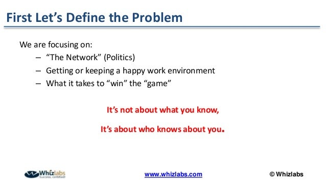 Secrets To Winning At Office Politics How To Get Things Done And Increase Your Influence At Work - PMP Webinar Slide 3