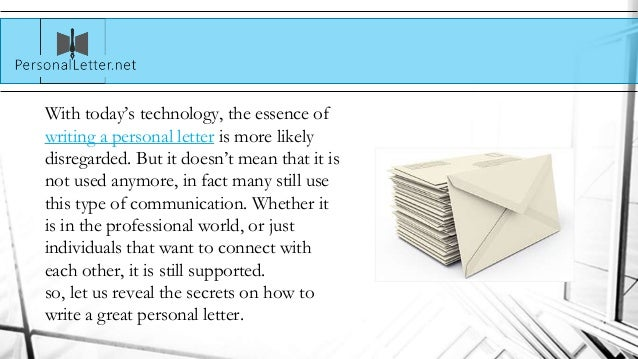 Secrets to Writing a Great Personal Letter