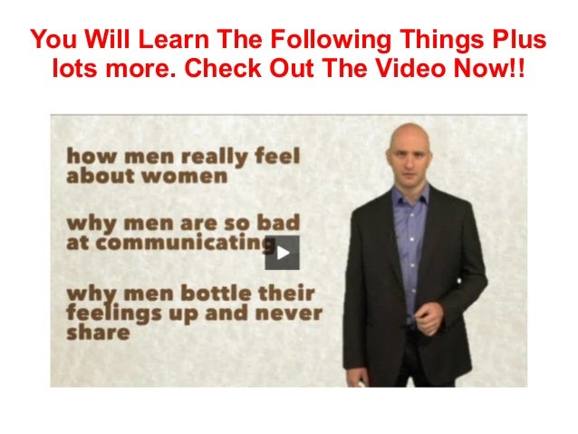 How to understand what a man wants