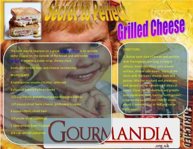 The best way to improve on a great grilled cheese is to sprinkle some cheese on the outside of the bread and add some roas...