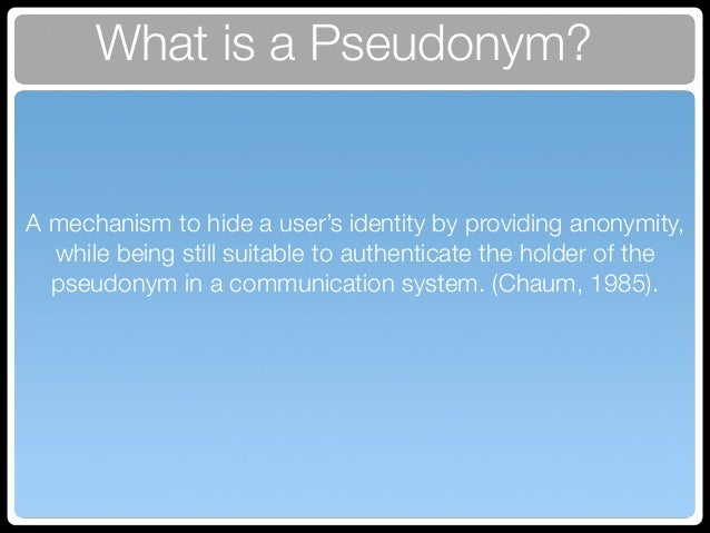 how to choose a pseudonym