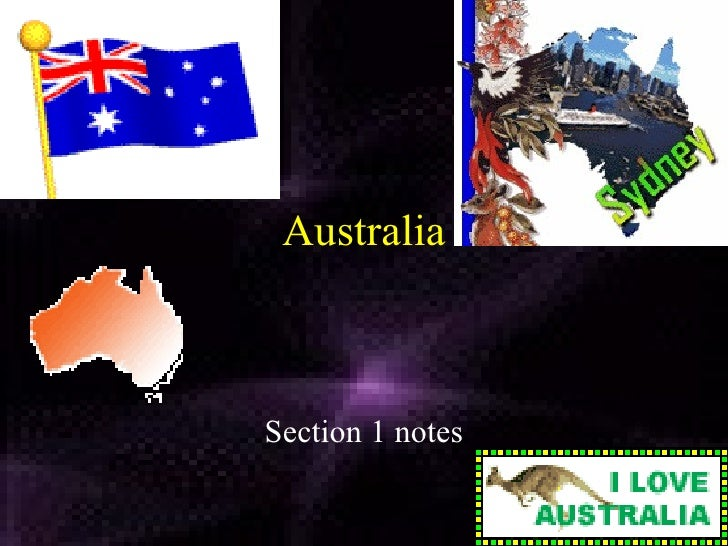 Australia Section 1 notes