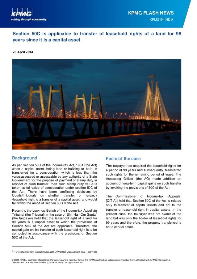 © 2014 KPMG, an Indian Registered Partnership and a member firm of the KPMG network of independent member firms affiliated...