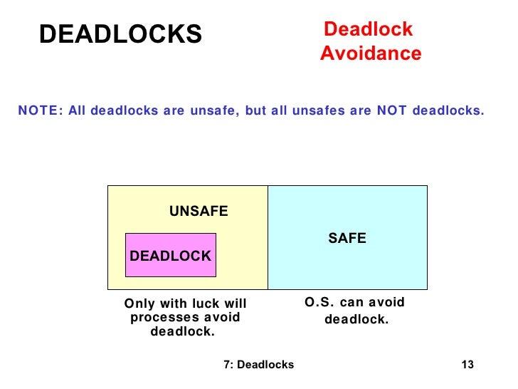 how to avoid a deadlock