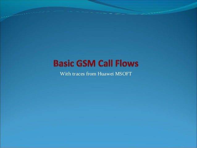 With traces from Huawei MSOFT