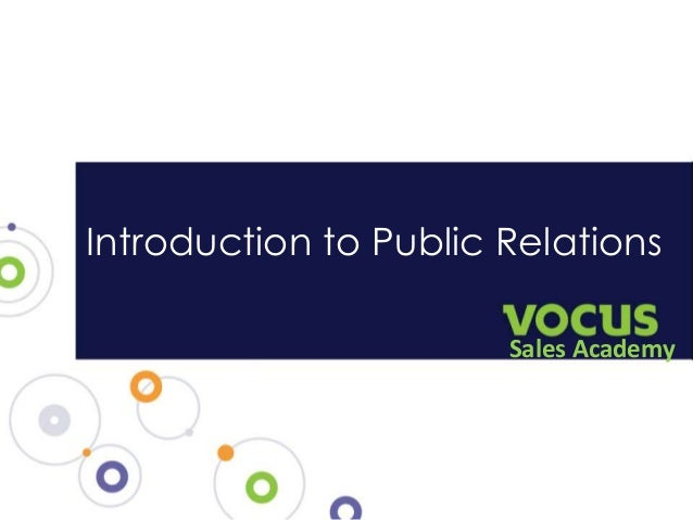 Introduction to Public Relations Sales Academy