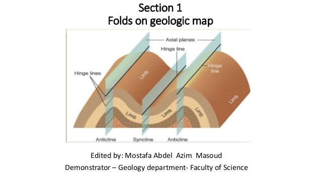 Section 1 Folds on geologic map Edited by: Mostafa Abdel Azim Masoud Demonstrator – Geology department- Faculty of Science