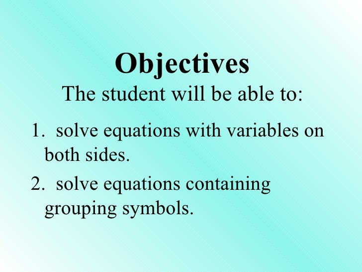 Section 10.4 sol equation w/ variables on each side (math)