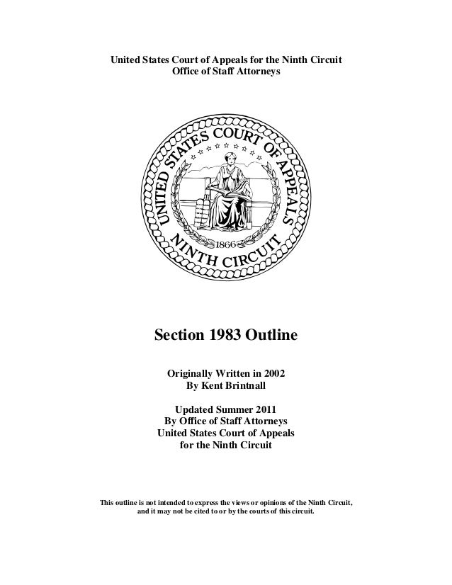 Section 1983 outline 9th circuit 181-pages