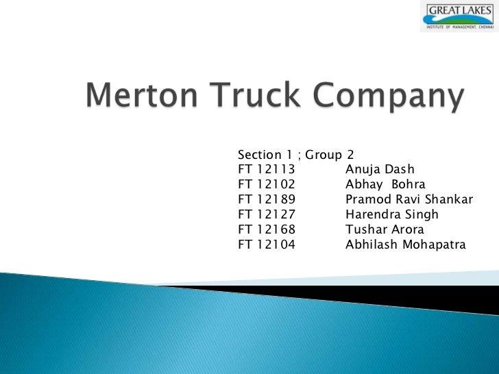 merton truck company