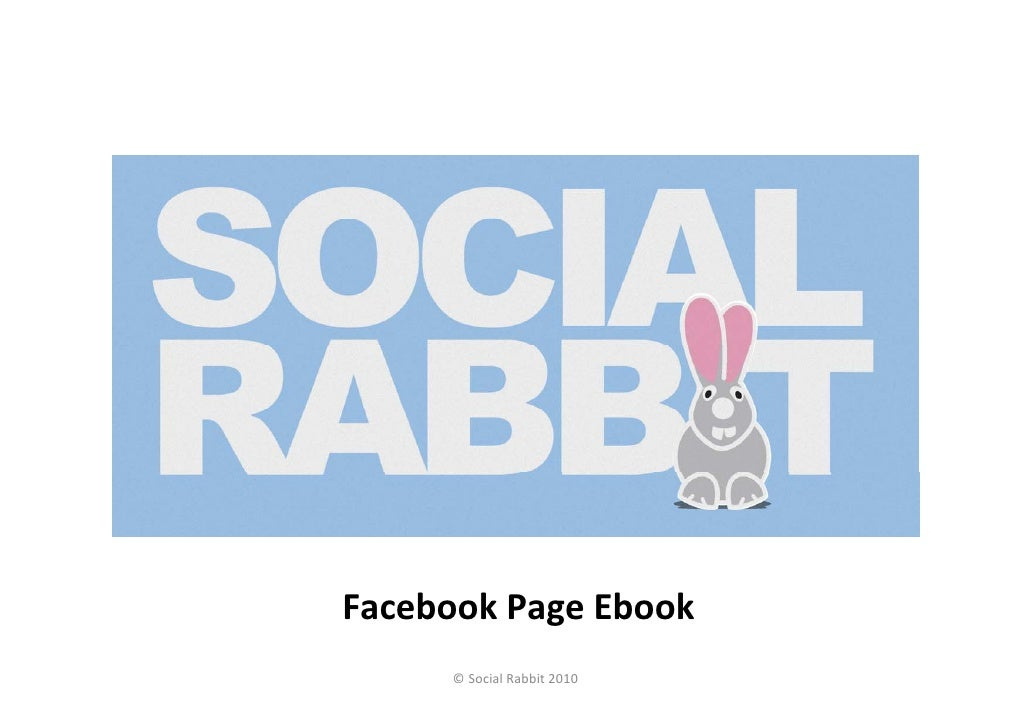 FacebookPageEbook     © SocialRabbit2010