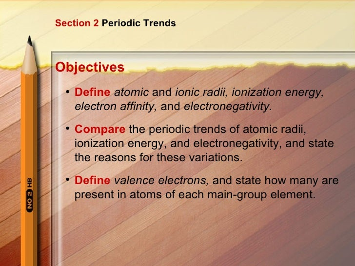 Periodic trends periodic trends objectives ullidefine atomic and ionic radii ionization energy urtaz