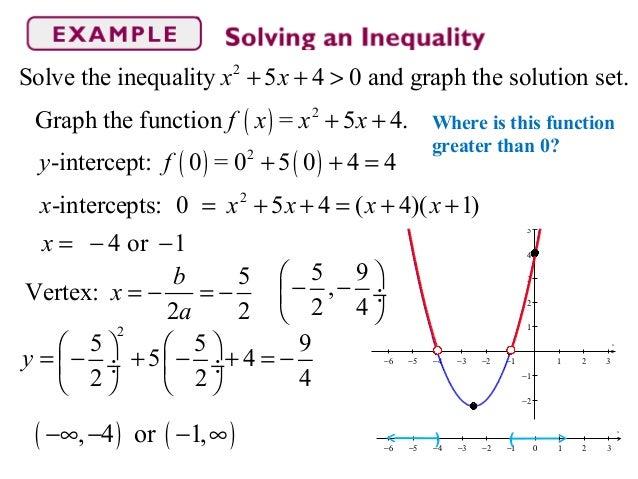 Section 3 5 Inequalities Involving Quadratic Functions