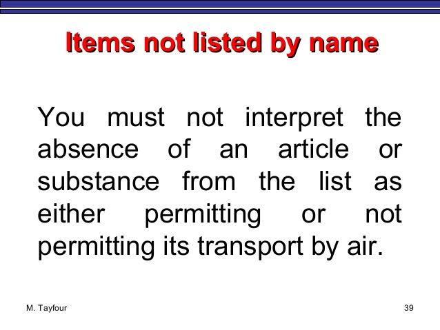 Section 4 IATA Identification