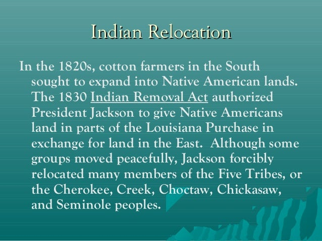 Indian Removal Act: The Genocide of Native Americans