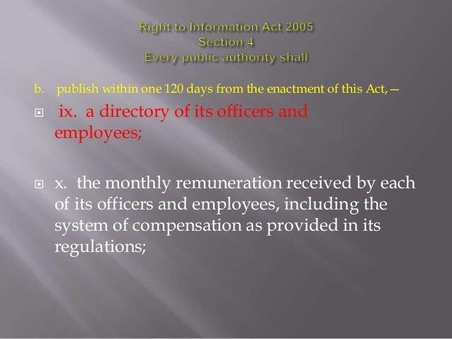 Sight to Information Act (India) Section 4