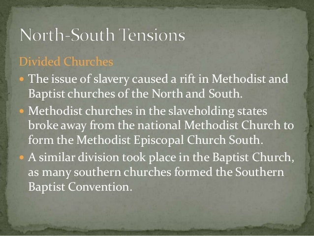 examples of sectionalism caused by slavery in the american history Summarize the differences between nationalism and sectionalism describe the emerging american nationalism and sectionalism of slavery in the.