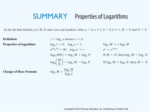 Section 55 properties of logarithms 18 publicscrutiny Image collections