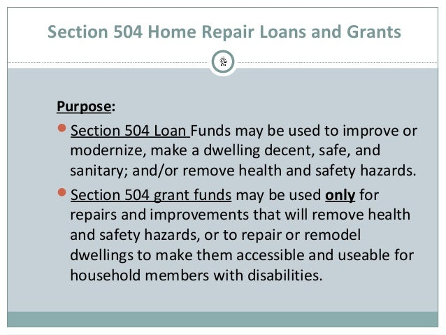 How Make Home Repairs With Usda