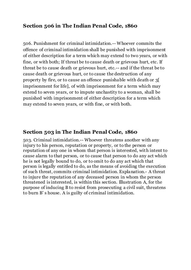 Business Essay Examples Section  In The Indian Penal Code   Punishment For Criminal  Intimidation Informative Synthesis Essay also Paper Essay Section   In The Indian Penal Code English Essays For High School Students