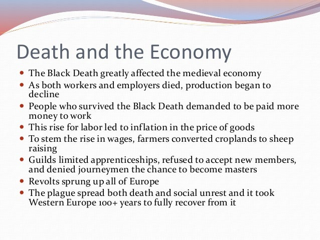 bubonic and pneumonic plagues threw europe into an economic and social tailspin Standard 740--describe the economic and social effects of the spread of the black death (bubonic plague) from central asia to china, the middle east, and europe, and its impact on the global population.