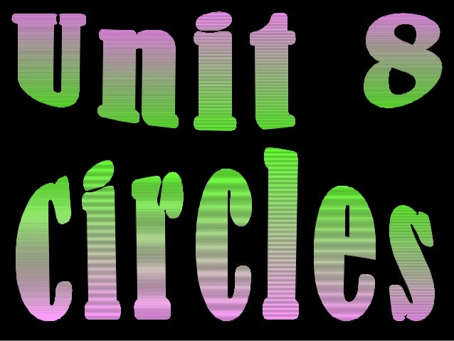 Circle – the set of all points in a plane agiven distance away from a center point.                      A circle is named...
