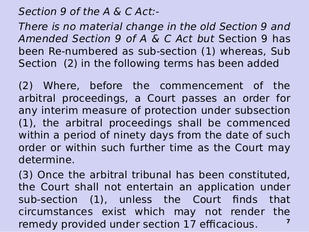 Section 9 of the Arbitration and Conciliation Act, 1996