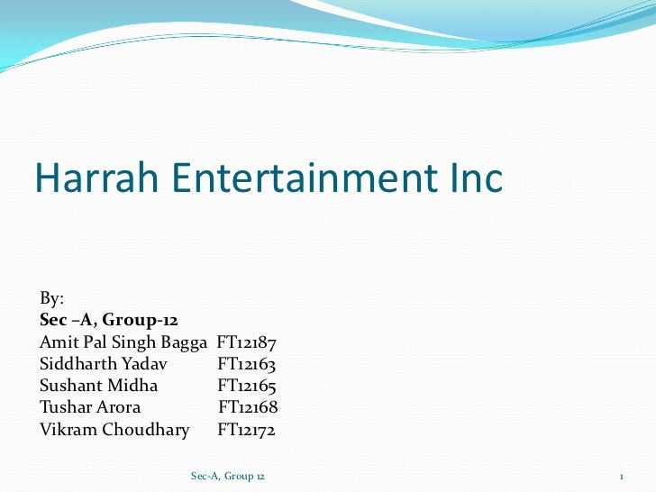harrahs entertainment marketing strategy
