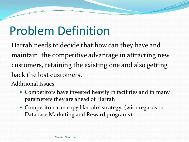 competitive analysis case study harrah s entertainment inc Hbr case study r0305a  harrah's las vegas is dazzled more by  harrah's  entertainment has outplayed its competition and won impressive gains, despite   mining the company's rich database  the strategy pursued by other big casino.