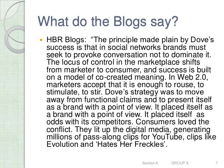 hbr dove case A recent harvard business review article on strategic planning (subscription  in  many cases, this is exactly how marketing operates today.